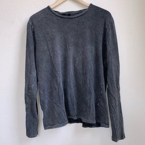 Joe's Jeans Gray Distressed Sweatshirt